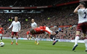 6.0: Ashley Young scores well for his diving, but not so much for his football skills since joining Man United.