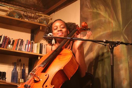 The woman behind the cello: Ayanna Witter-Johnson hasn't ruled out a return to the Isle of Wight in the near-future.