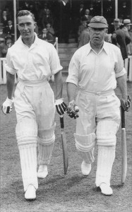 Denis Compton (left) starred for England at cricket and Arsenal at football.