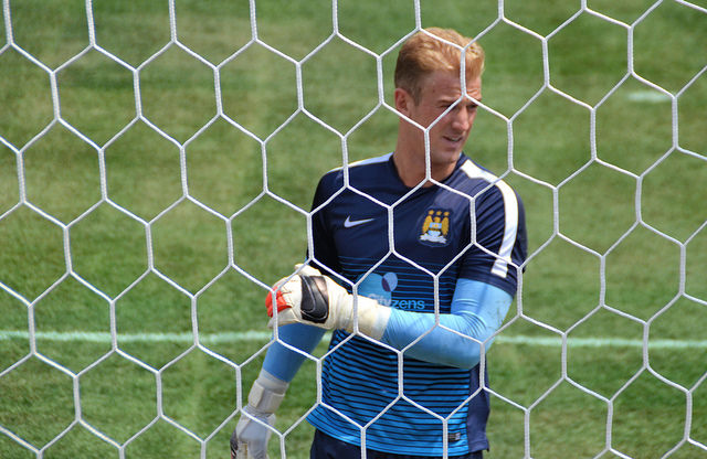 Hart stopper: Man City custodian has been in superb form this term.