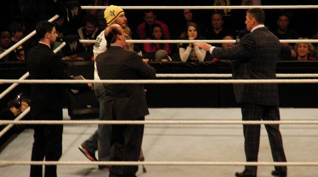 CM Punk with Vince Mcmahon